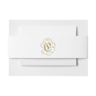 "Gold ""C"" Monogram on Belly Band for Formal Suites"