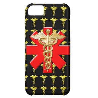 Gold Caduceus And Medical Cross iPhone 5C Cover
