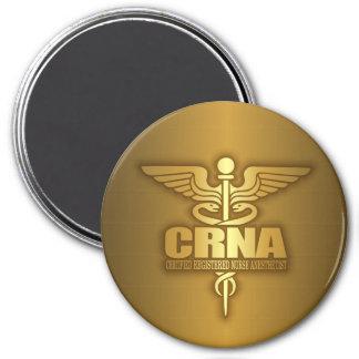 Gold Caduceus (CRNA) 3 Inch Round Magnet