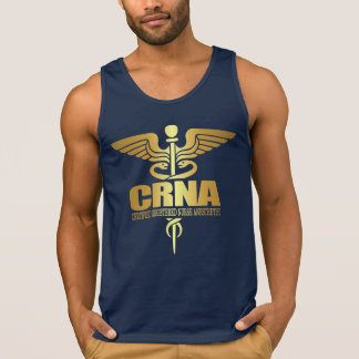 Gold Caduceus (CRNA) Tank Top