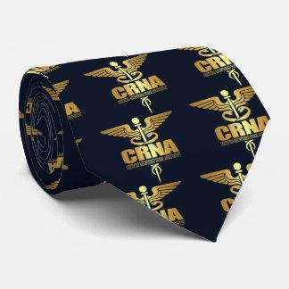 Gold Caduceus (CRNA) Tie