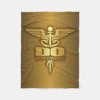 Gold Caduceus (DO) Fleece Blanket
