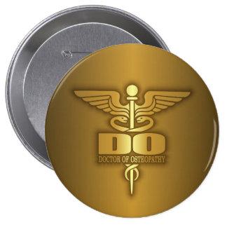 Gold Caduceus (DO) Pinback Button