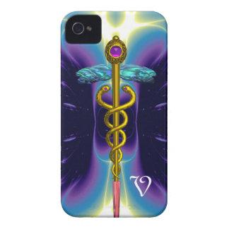 GOLD CADUCEUS MONOGRAM iPhone 4 CASE