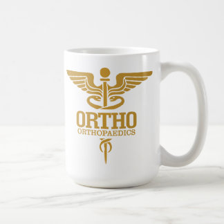 Gold Caduceus (ORTHO) Coffee Mug