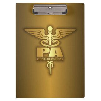 Gold Caduceus (PA) Clipboard