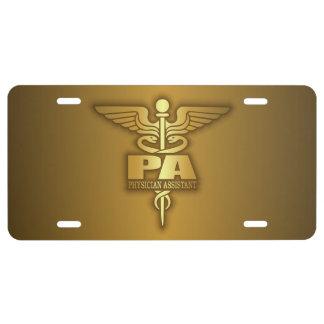 Gold Caduceus (PA) License Plate