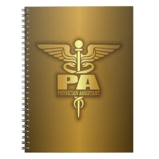 Gold Caduceus (PA) Notebook
