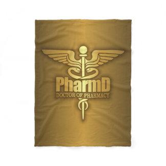 Gold Caduceus (PharmD) Fleece Blanket