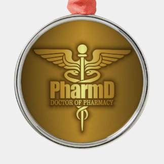 Gold Caduceus (PharmD) Metal Ornament