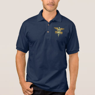 Gold Caduceus (PharmD) Polo Shirt