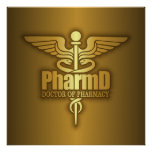 Gold Caduceus (PharmD) Poster