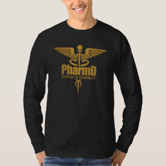 Gold Caduceus (PharmD) T-Shirt
