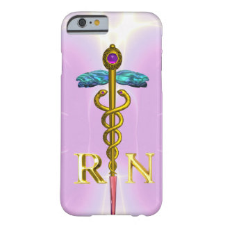 GOLD CADUCEUS REGISTERED NURSE SYMBOL Light Pink Barely There iPhone 6 Case