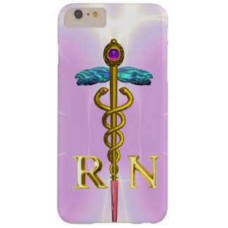 GOLD CADUCEUS REGISTERED NURSE SYMBOL Light Pink Barely There iPhone 6 Plus Case