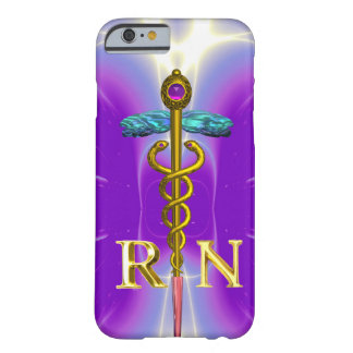 GOLD CADUCEUS REGISTERED NURSE SYMBOL Purple Barely There iPhone 6 Case