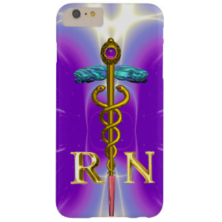 GOLD CADUCEUS REGISTERED NURSE SYMBOL Purple Barely There iPhone 6 Plus Case