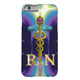 GOLD CADUCEUS REGISTERED NURSE SYMBOL Purple Blue Barely There iPhone 6 Case