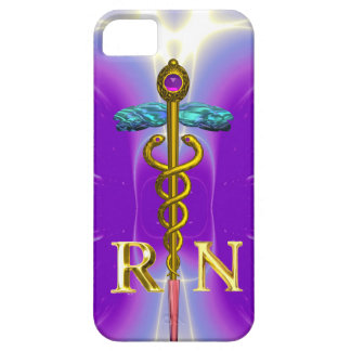 GOLD CADUCEUS REGISTERED NURSE SYMBOL Purple iPhone SE/5/5s Case