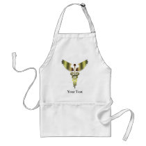 Gold Caduceus symbol Adult Apron