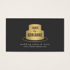 Gold Cake Logo Ii For Bakery, Cafe, Chef Business Card at Zazzle