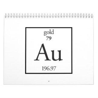 Gold Wall Calendars