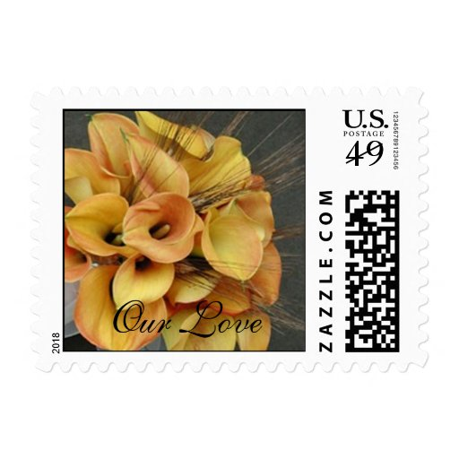 Gold Calla Lilies Postage Stamp