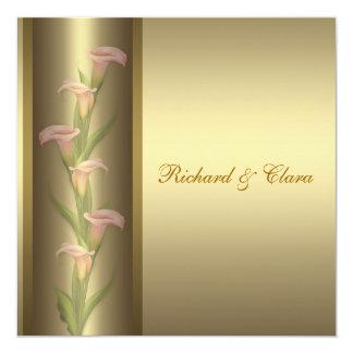 Gold Calla Lily 50th Golden Anniversary Card