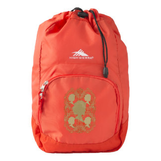 Gold Cameo Ladies High Sierra Red Backpack