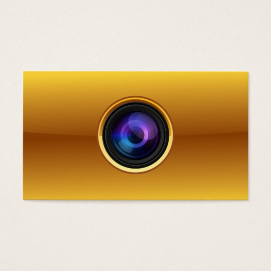 Gold Camera Photographer business card