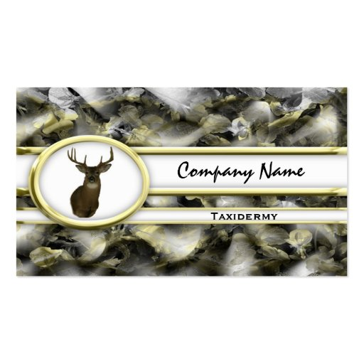 Taxidermy business card templates bizcardstudio gold camouflage deer taxidermy business cards colourmoves