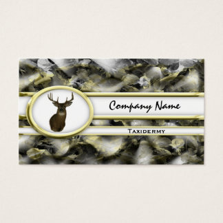 Gold Camouflage Deer Taxidermy Business Cards