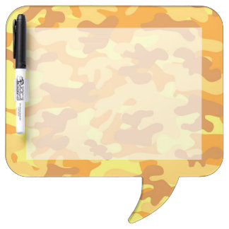 Gold Camouflage Dry Erase Board