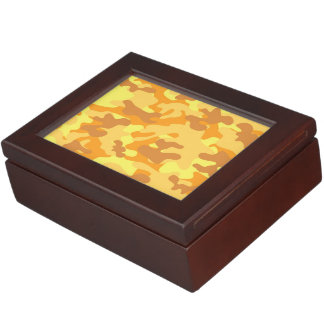 Gold Camouflage Memory Box