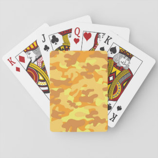 Gold Camouflage Poker Deck