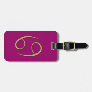 gold cancer tag for luggage