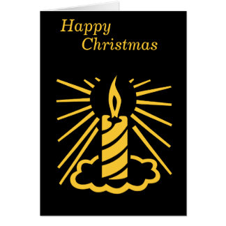 gold candle graphic design contemporary black card