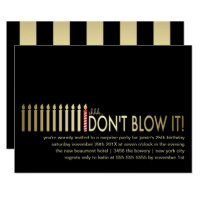 Adult birthday party invitations announcements zazzle gold candles surprise birthday party invitation filmwisefo