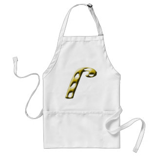 Gold Candy Candy Christmas Apron