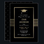 """Gold Cap EDITABLE COLOR Graduation Invitation<br><div class=""""desc"""">Celebrate the graduate with this modern and stylish card from Berry Berry Sweet { www.berryberrysweet.com } Matching items and color options available at our store or upon request.</div>"""