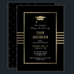 "Gold Cap EDITABLE COLOR Graduation Invitation<br><div class=""desc"">Celebrate the graduate with this modern and stylish card from Berry Berry Sweet { www.berryberrysweet.com } Matching items and color options available at our store or upon request.</div>"