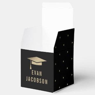 Gold Cap EDITABLE COLOR Graduation Party Favor Box