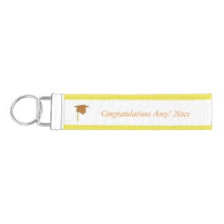 Gold Cap Tassel Add Year Name Graduation KeyChains