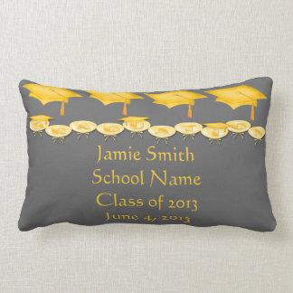 Gold Caps Tassel Worth the Hassel Lumbar Pillow