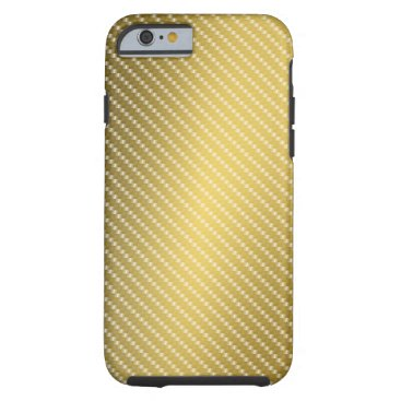 Beach Themed Gold Carbon Fiber Pattern Base Tough iPhone 6 Case