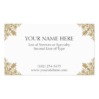 Gold Card Double-Sided Standard Business Cards (Pack Of 100)