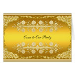 "Gold Card ""Come to our Party"" Card"