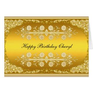 "Gold Card ""Happy Birthday"""