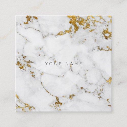 Gold Carrara Gray Marble Vip Business Card