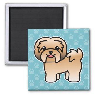 Gold Cartoon Havanese Dog Magnet